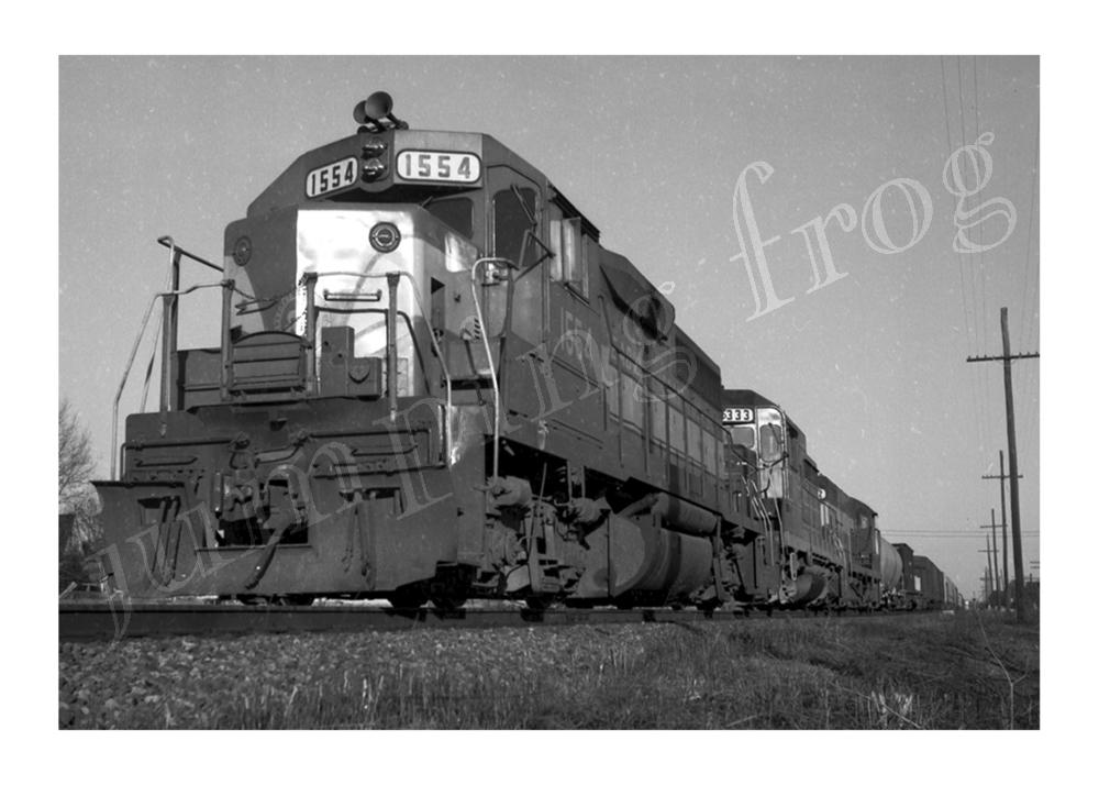 "Seaboard Coast Line Railroad diesel locomotive #1554 & #1333 5x7"" photo ca 1960s"