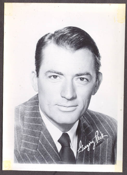 Actor Gregory Peck studio 5x7 head shot