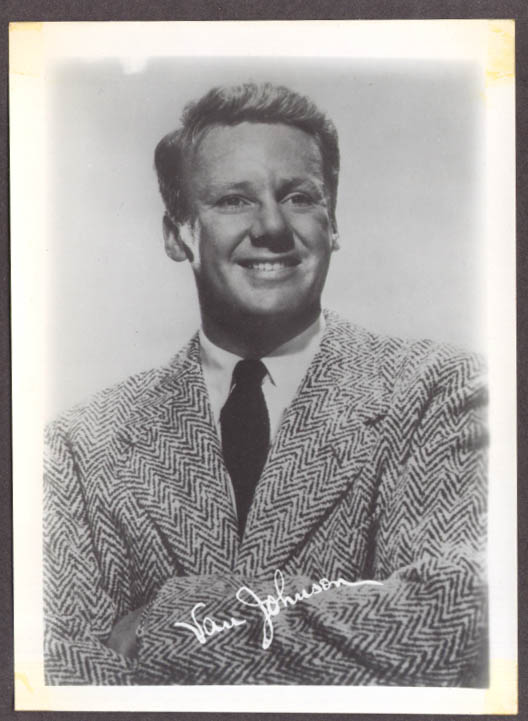 Actor Van Johnson studio 5x7 head shot