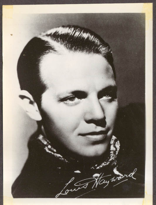 Actor Louis Hayward studio 5x7 head shot
