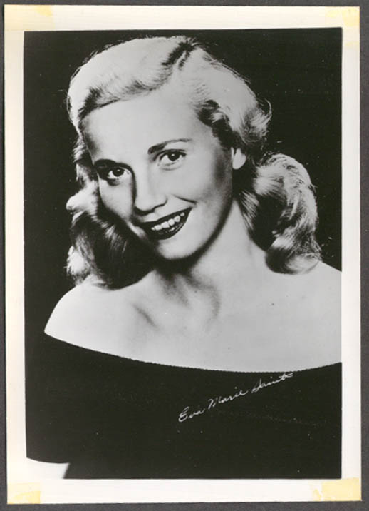 Actress Eva Marie Saint studio 5x7 head shot