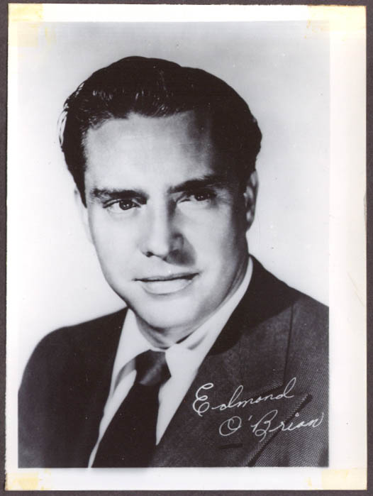 Actor Edmond O'Brien studio 5x7 head shot