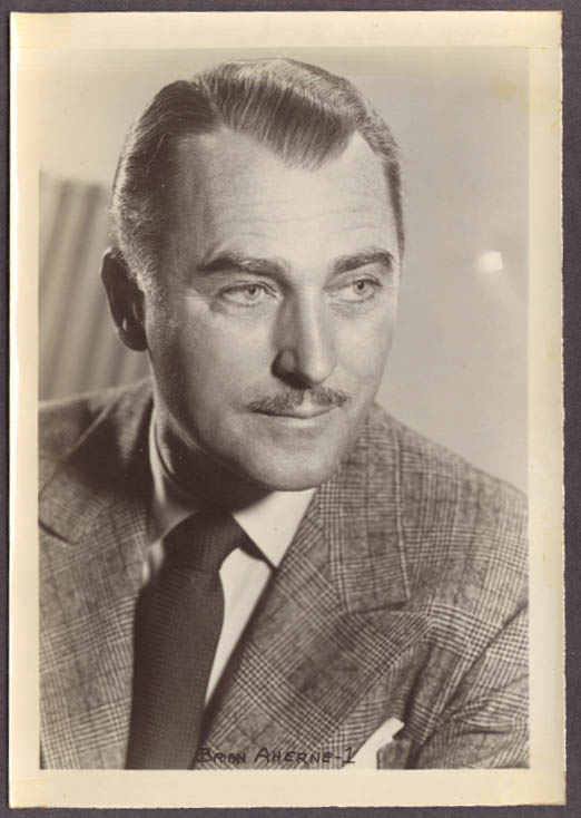 Actor Brian Aherne studio 5x7 head shot