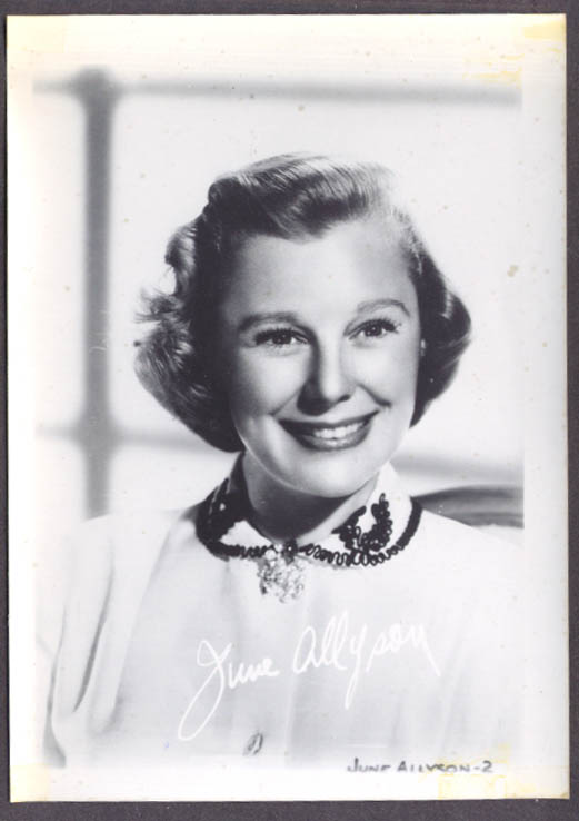 Actress June Allyson studio 5x7 head shot
