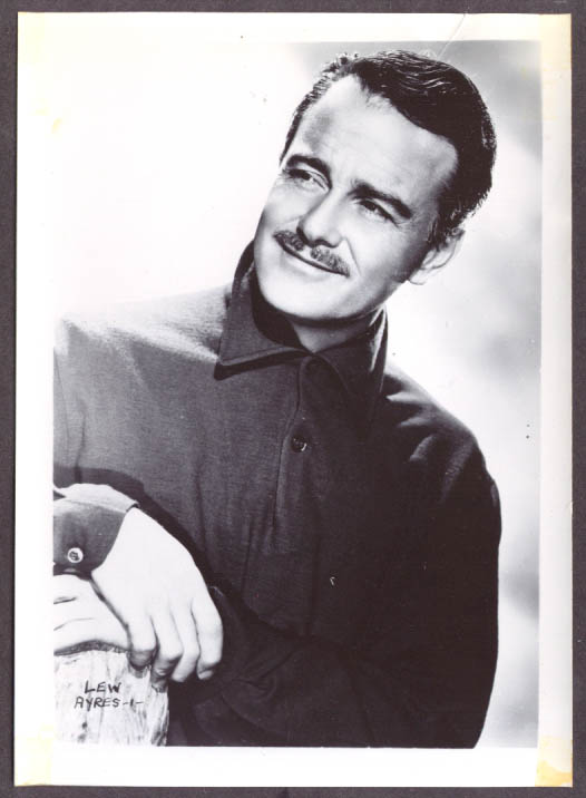 Actor Lew Ayres studio 5x7 head shot