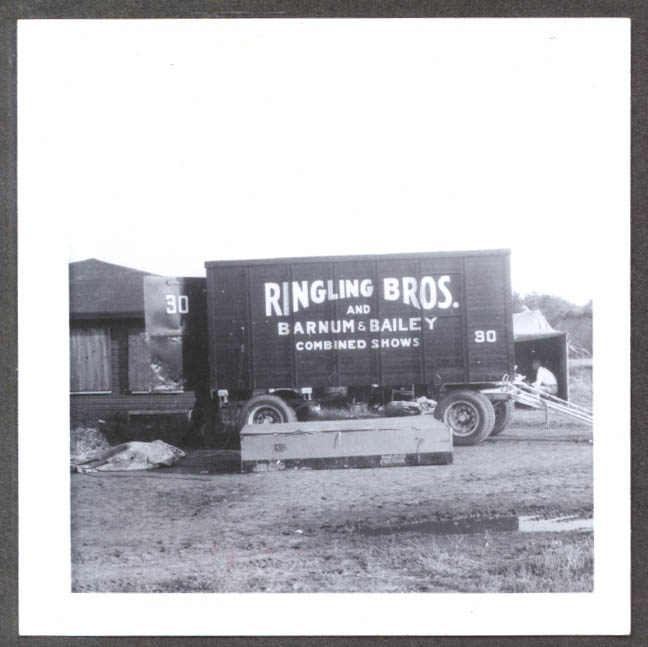 Image for Unidentified Wagon #30 Ringling Bros circus photo 1955