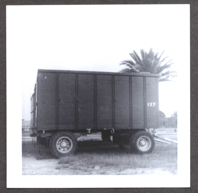 Image for Unidentified Wagon #137 Ringling Bros circus photo 1954