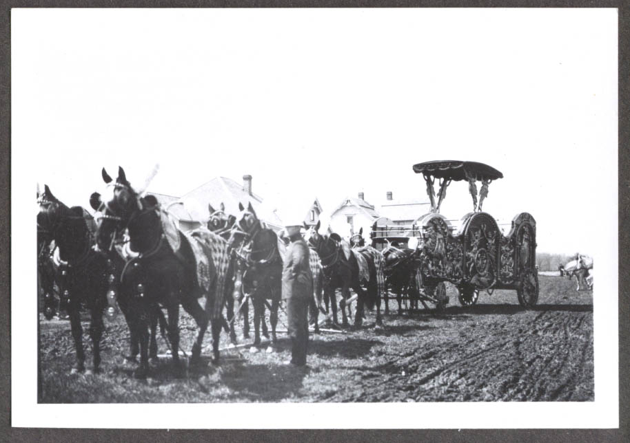8-horse Tableau Hagenbeck & Wallace circus photo 1908