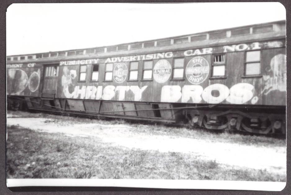 Publicity Advertising Car Christy Bros circus photo 1920s