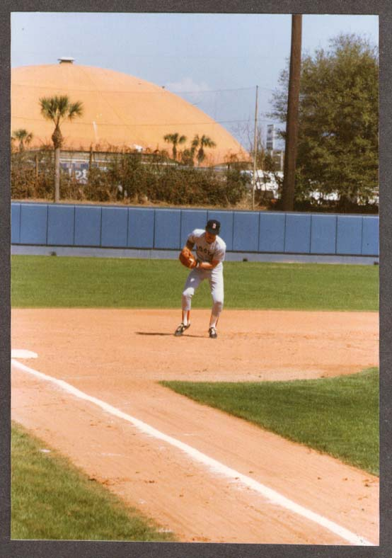 3B Red Sox Wade Boggs Spring Training photo 1988