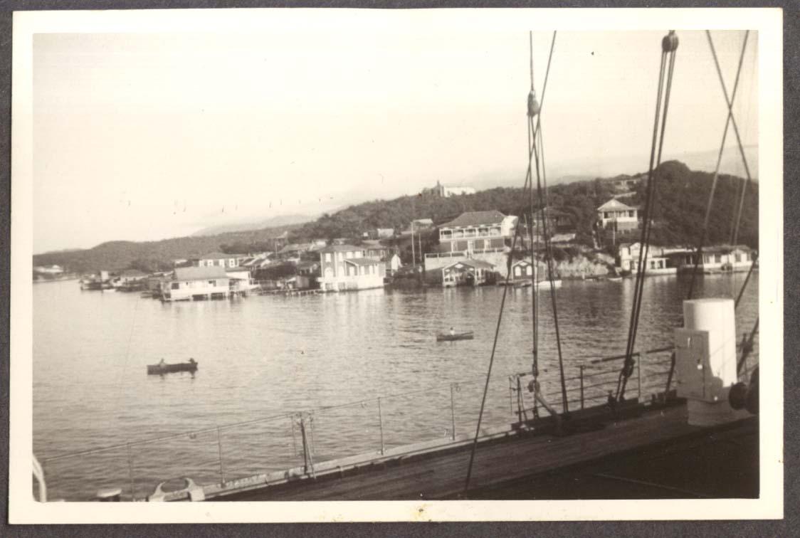 Havana harbor from S S Amapala photo 1941
