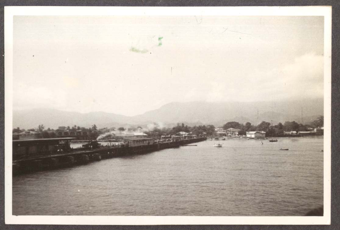 Dock at La Ceiba Honduras from S S Amapala photo 1941