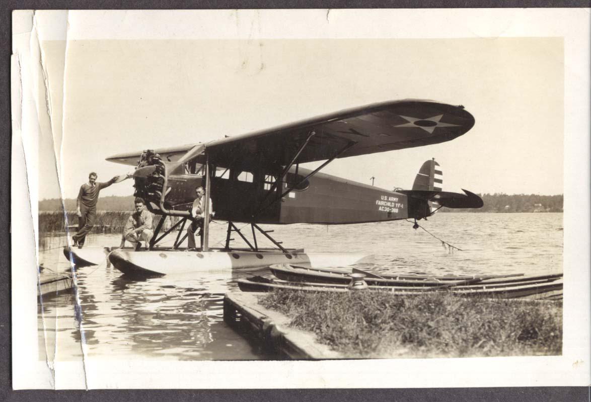 US Army Fairchild YF-1 AC 30-368 & crew photo 1930