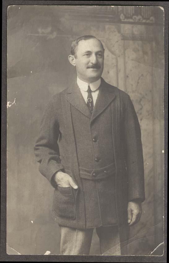 Mr Ephraim Bass smoking jacket RPPC 12 1916