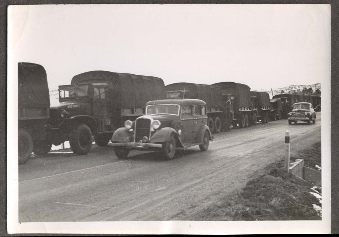 US convoy on road to Denver Army Day 1947 photo