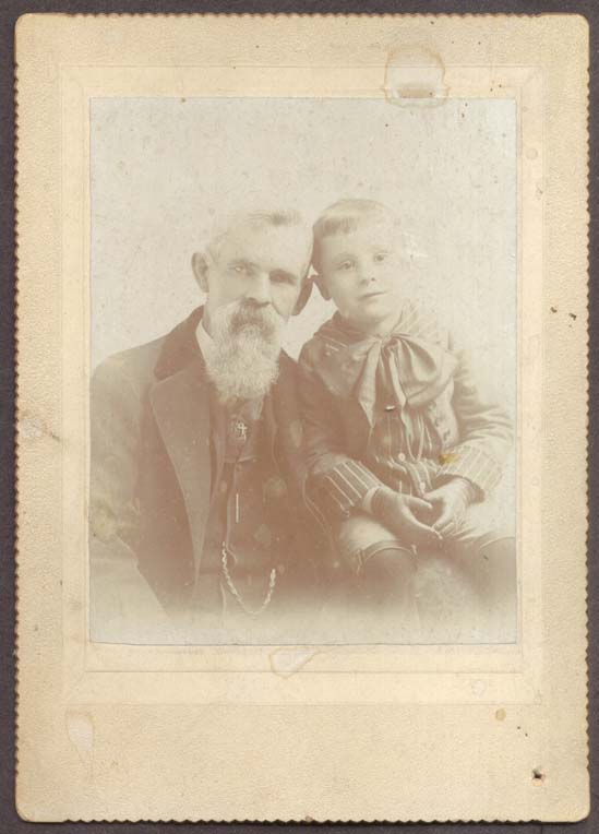 Grandfather John & Howard A Burnette photo Albion NY