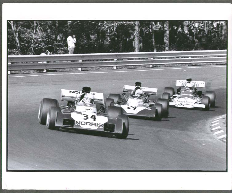 NI #24 Surtees T69 BRM #15 formula cars photo ca 1970s