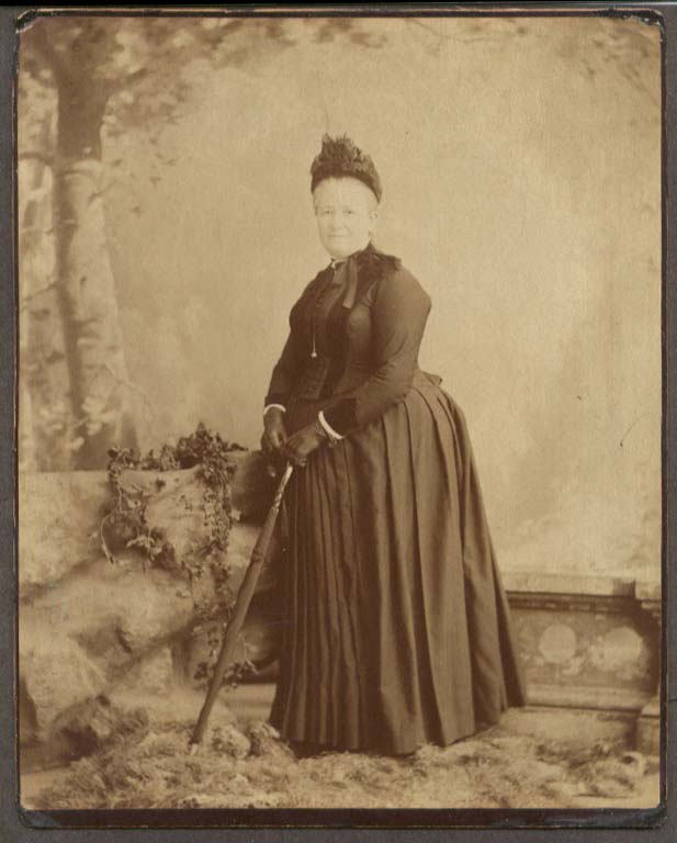 Grandmother Ann Burnette with umbrella photo ca 1900