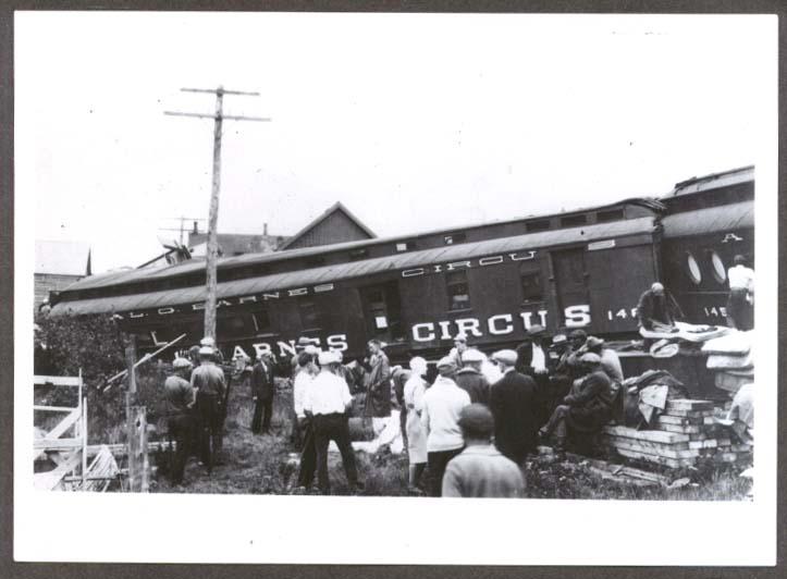 Al G Barnes Circus Train Wreck 7/20 1930 photo #3