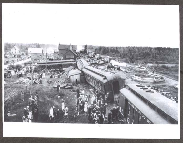 Al G Barnes Circus Train Wreck 7/20 1930 photo #4