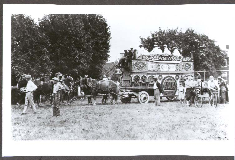 Cole Bros Circus Asia Tableau band wagon photo ca 1930