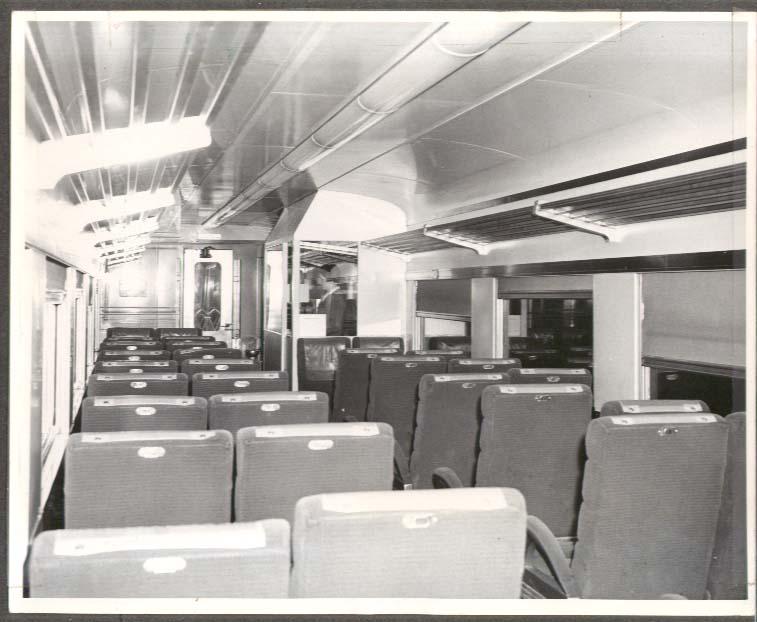 Club Car Boston & Maine RR interior view photo ca 1950s