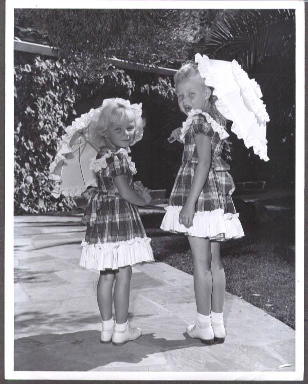 Alice & Phyllis kids of Alice Faye & Phil Harris 8x10