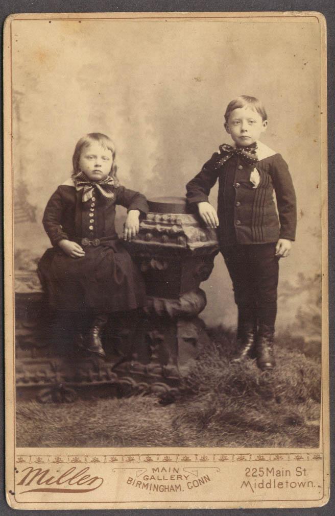 2 children fancy ties cabinet Miller Birmingham CT