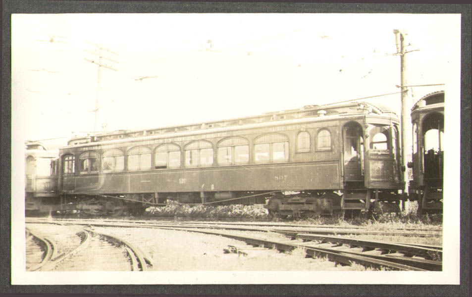 Lehigh Valley Transit Streetcar #807 Allentown PA photo