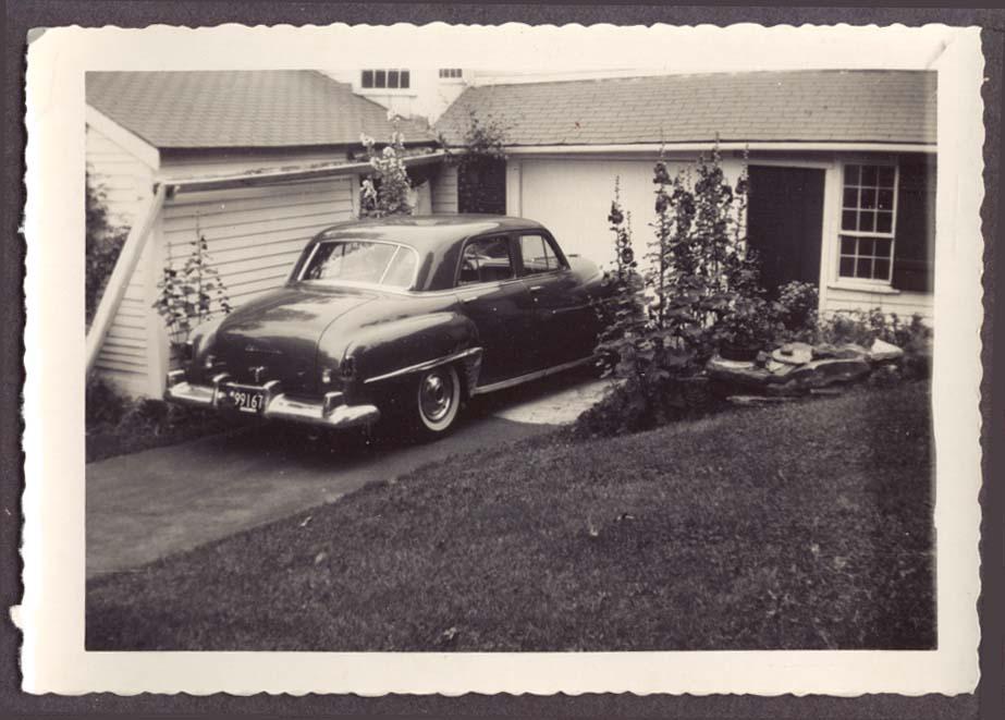 1950 Chrysler 4-dr sedan MA 1951 plate 99167 snapshot