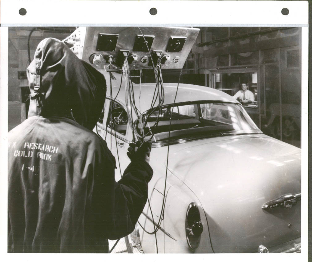 1953 Chevrolet Sedan in GM Research Cold Room #1 8x10 May 1955