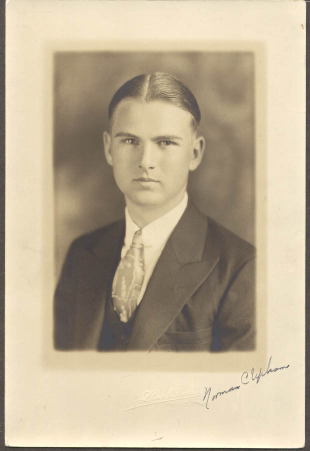 Image for Norman C Upham SIGNED portrait by Louis Oliver Providence RI ca 1920
