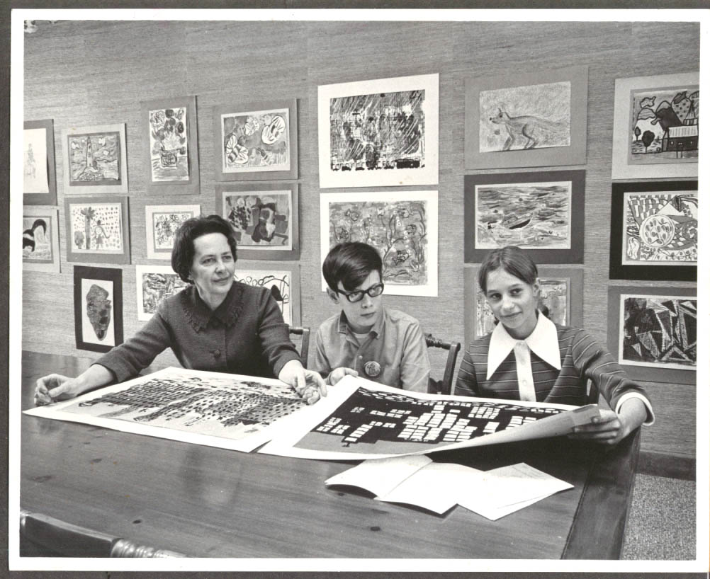 Image for Teacher Lucille Diorio pupils Eric Grevstad Barbara Busche W Hartford CT 1970