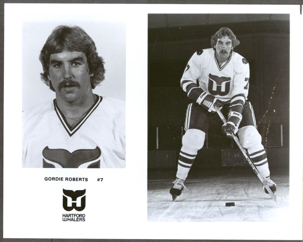 Image for Hartford Whalers defenseman Gordie Roberts #7 press 8x10 hockey photo