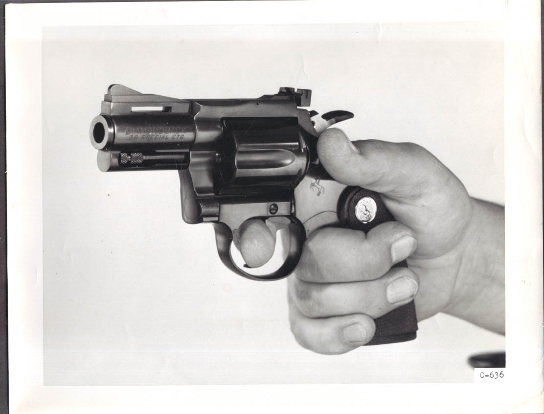 Image for Colt pistol Diamondback .38 Special company production promo 8x10 1960s