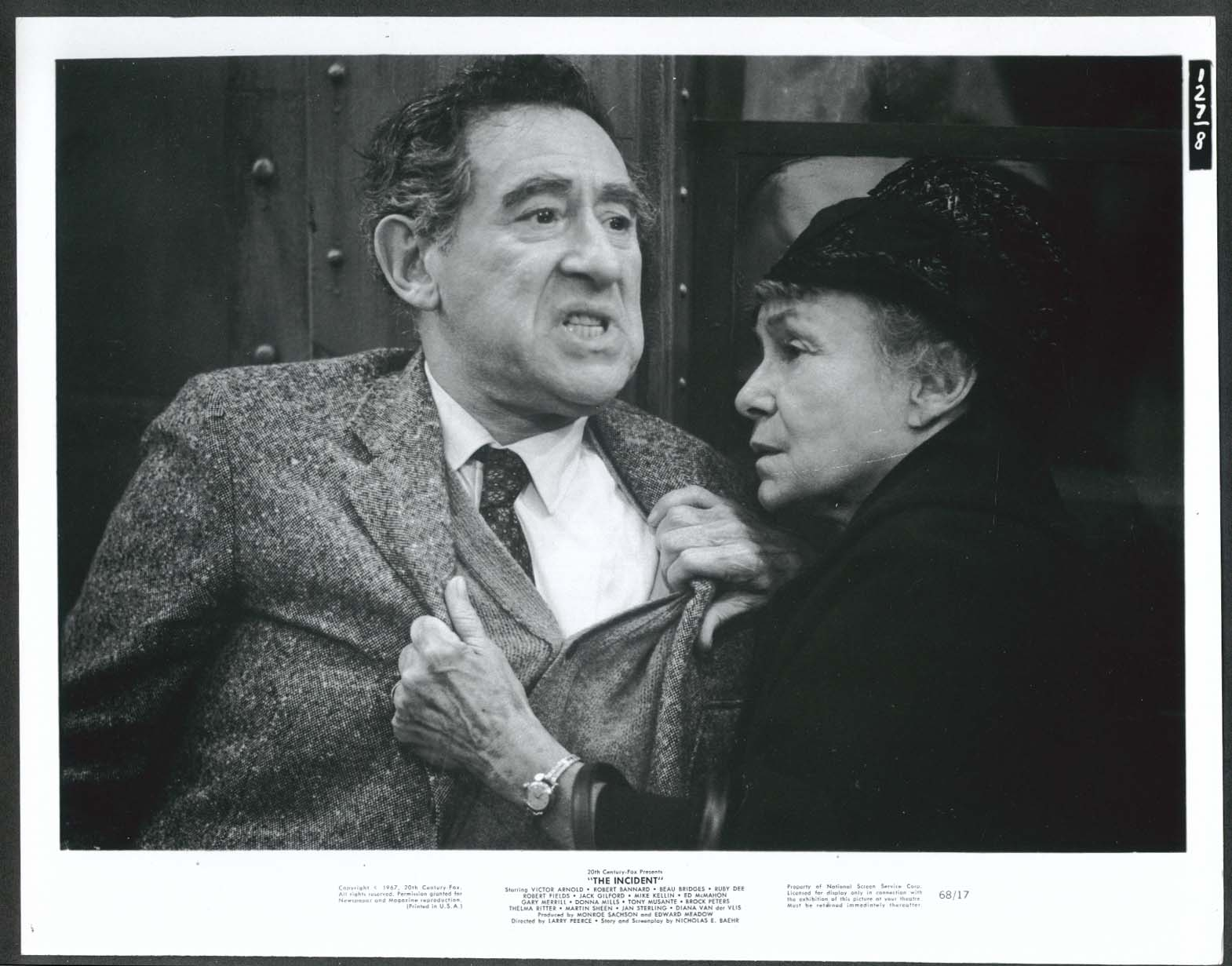 Jack Gilford Thelma Ritter The Incident 8x10 photo #2 1967