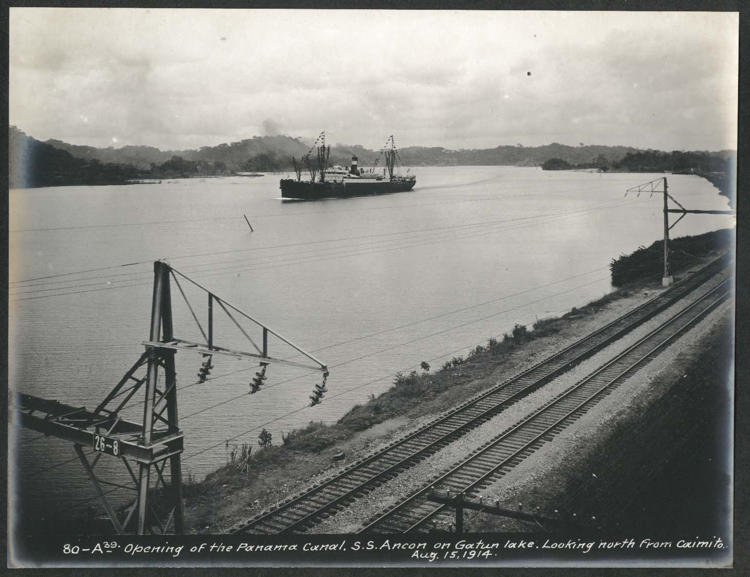 Image for Panama Canal photo 1914 Opening of canal S S Ancon Gatun Lake N from Caimito