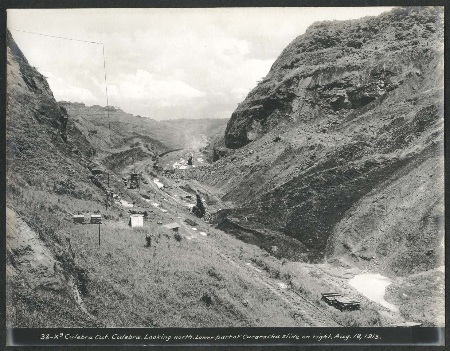 Image for Panama Canal photo 1913 Culebra Cut lower part of Cucaracha slide