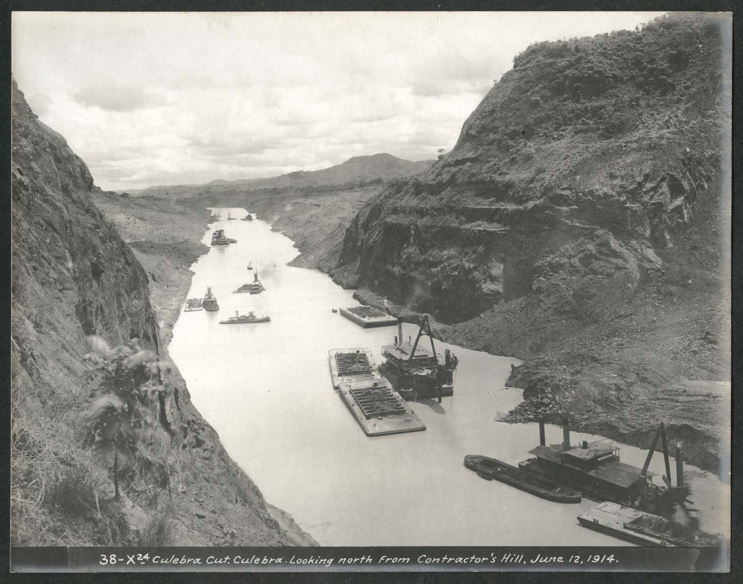 Image for Panama Canal photo 1914 Culebra Cut looking North from Contractors Hill