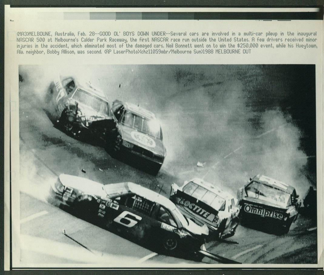 Melbourne Calder Park Raceway NASCAR 500 crash 1988 laserphoto