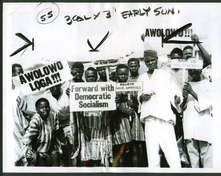 Nigeria Party Members for Democratic Socialism news photo Ibadan 1962