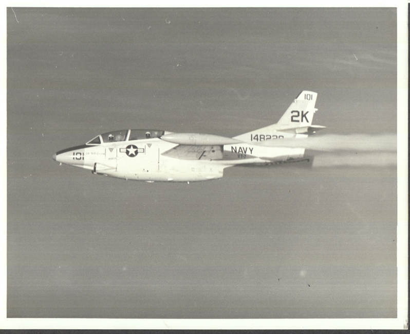 Image for US Navy North American T-2 Buckeye in flight photo 1972