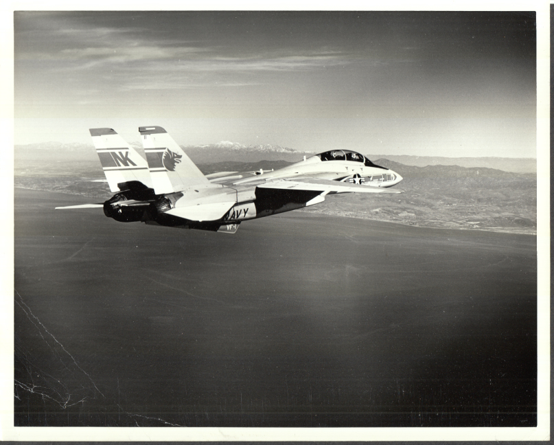 Image for US Navy Grumman F-14 Tomcat VF-1 off USS Abraham Lincoln photo 1976