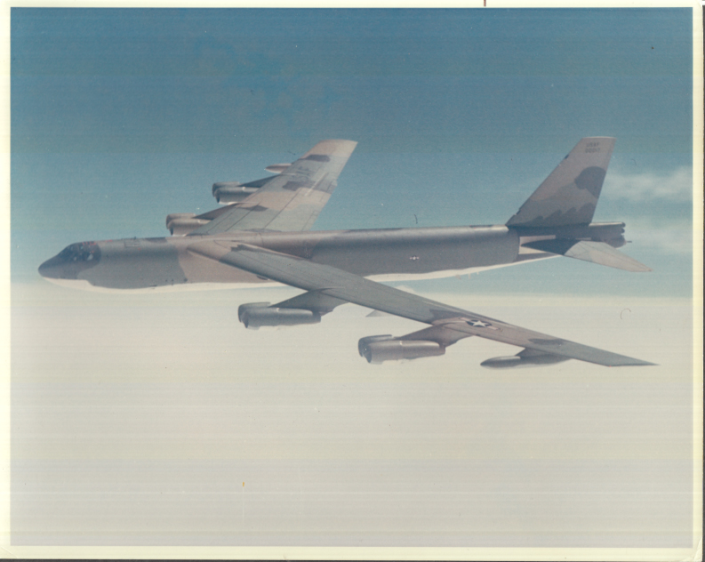 Image for US Air Force Boeing B-52H in flight color photo May 1970