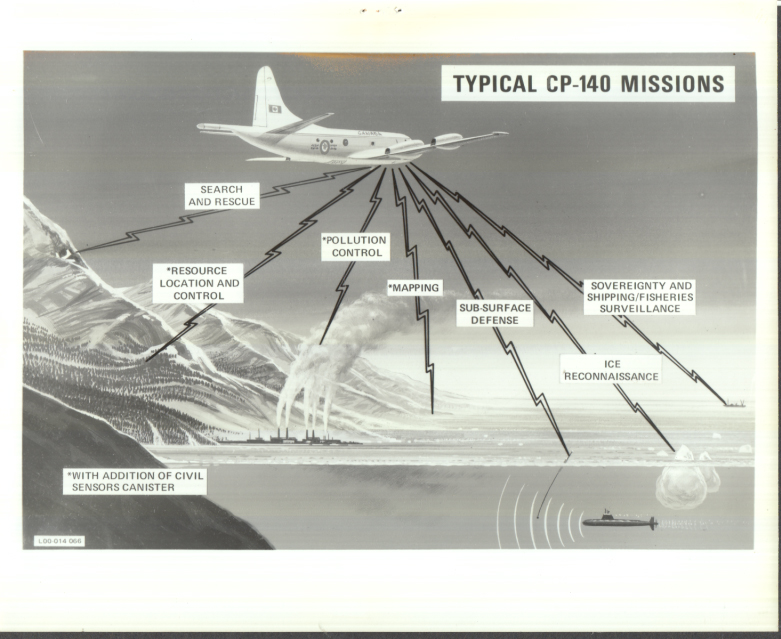 Image for Royal Canadian Air Force Lockheed CP-140 Aurora Typical Missions photo