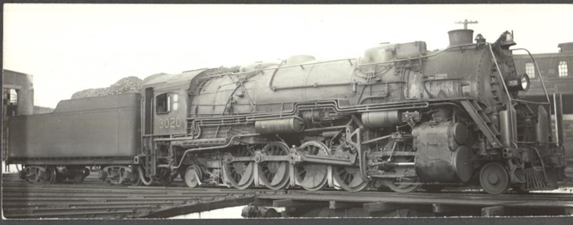 Image for Reading RR 2-10-2 Santa Fe locomotive #3020 built 1931, scrapped 1954 photo