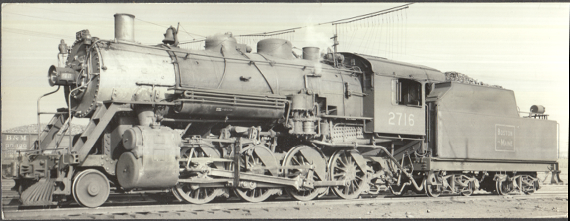 Image for Boston & Maine RR K-8-c 2-8-0 Locomotive #2716 built 1916 scrapped 1950 photo