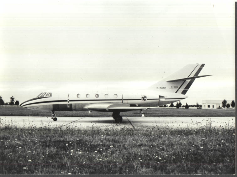 Image for Air France Dassault Mystere 20 F-BOEF parked on runway photo 1970s