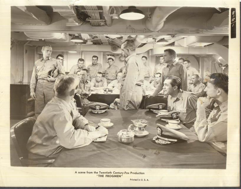 Image for The Frogmen movie still photo Richard Widmark 1951 20th Century Fox