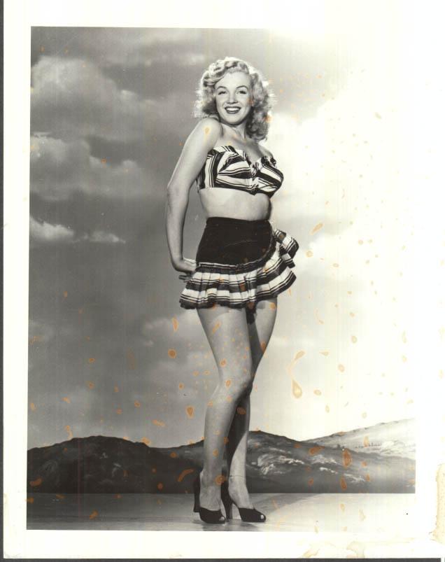 Image for Marilyn Monroe 2-piece sunsuit photo 1950s restrike 1980s